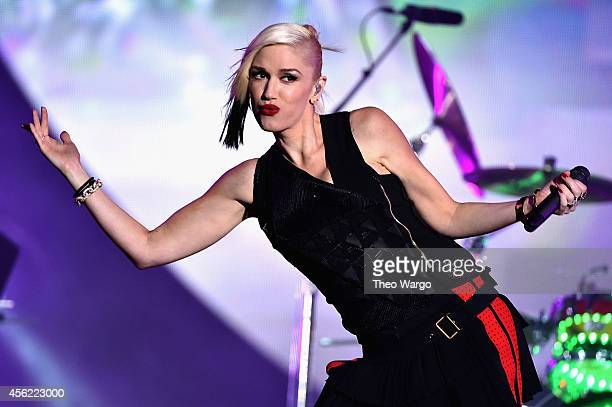 Gwen Stefani of No Doubt performs onstage at the 2014 Global Citizen Festival to end extreme poverty by 2030 in Central Park on September 27 2014 in...