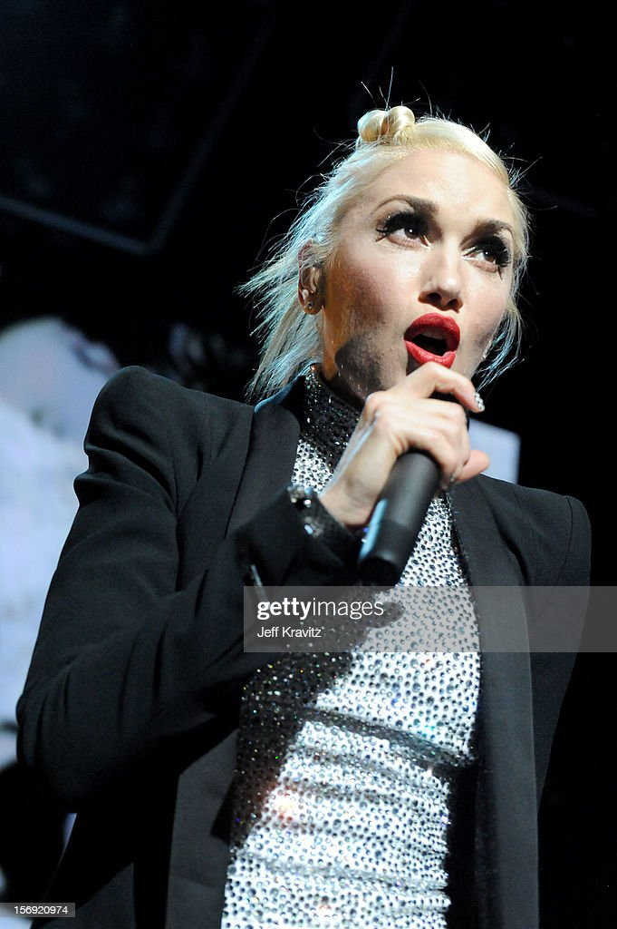 Gwen Stefani performs at No Doubt in Concert at Gibson Amphitheatre on November 24, 2012 in Universal City, California.