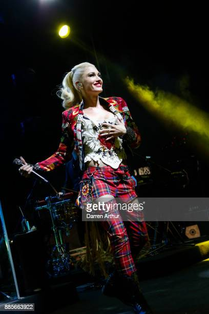 Gwen Stefani performs during the opening of the Renaissance Downtown Hotel Dubai for Marriott Rewards SPG members on December 4 2017 in Dubai United...