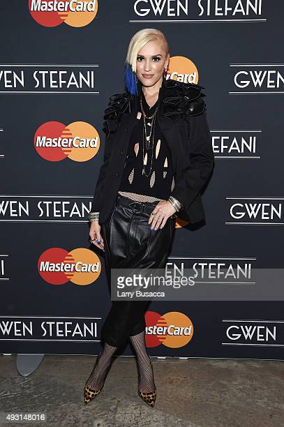 Gwen Stefani poses befor a concert presented by MasterCard exclusively for its cardmembers at Hammerstein Ballroom at the Manhattan Center on October...