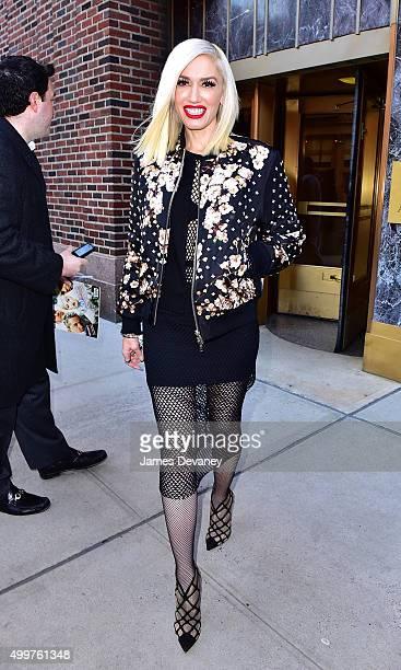 Gwen Stefani seen departing a radio interview for 'Elvis Duran And The Z100 Morning Show' on December 3 2015 in New York City