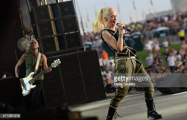 Gwen Stefani singer of the band No Doubt performs during Global Citizen 2015 Earth Day on the National Mall on April 18 2015 in Washington DC