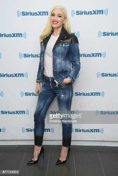 Gwen Stefani visits SiriusXM at SiriusXM Studios on November 21 2017 in New York City
