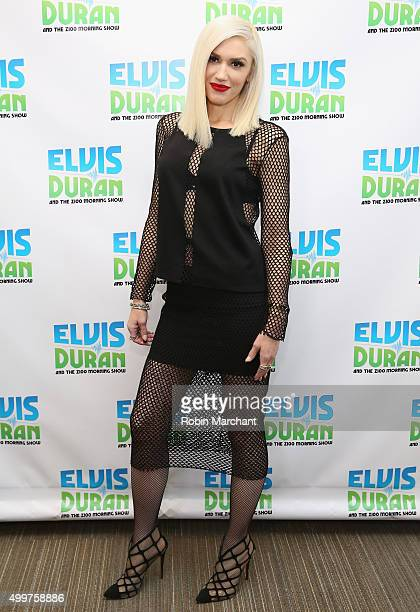 Gwen Stefani Visits 'The Elvis Duran Z100 Morning Show' at Z100 Studio on December 3 2015 in New York City