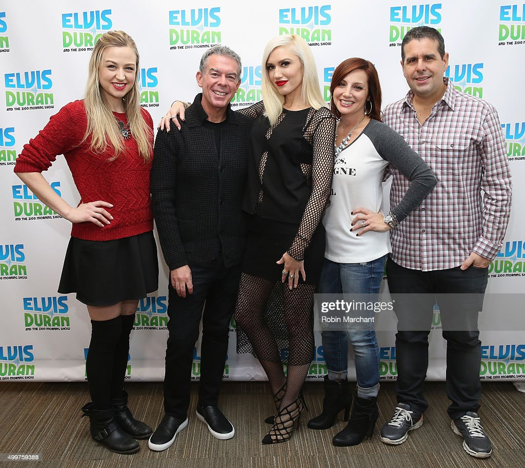 Gwen Stefani visits 'The Elvis Duran Z100 Morning Show' with hosts ...