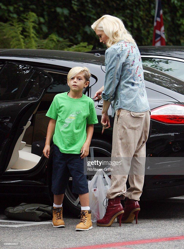Gwen Stefani with Kingston Rossdale in Los Angeles. on September 21, 2013 in Los Angeles, California.