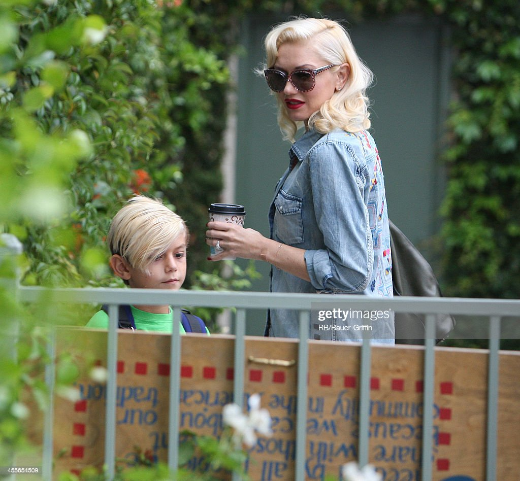 Gwen Stefani with Kingston Rossdale in Los Angeles. on September 21, 2013 in Los Angeles, California.