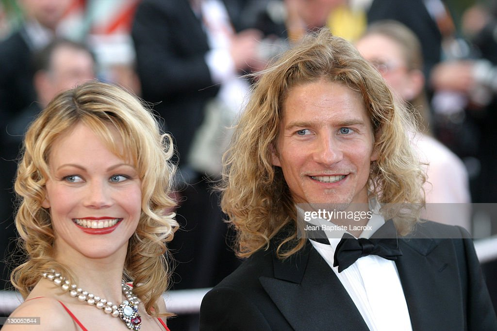 Gwendal Peizerat & wife during 2003 Cannes Film Festival - The Barbarian Invasions Premiere at Palais des Festivals in Cannes, France.