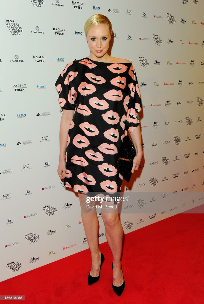 <a gi-track='captionPersonalityLinkClicked' href=/galleries/search?phrase=Gwendoline+Christie&family=editorial&specificpeople=6341361 ng-click='$event.stopPropagation()'>Gwendoline Christie</a> arrives at The WGSN Global Fashion Awards at the Victoria & Albert Museum on October 30, 2013 in London, England.