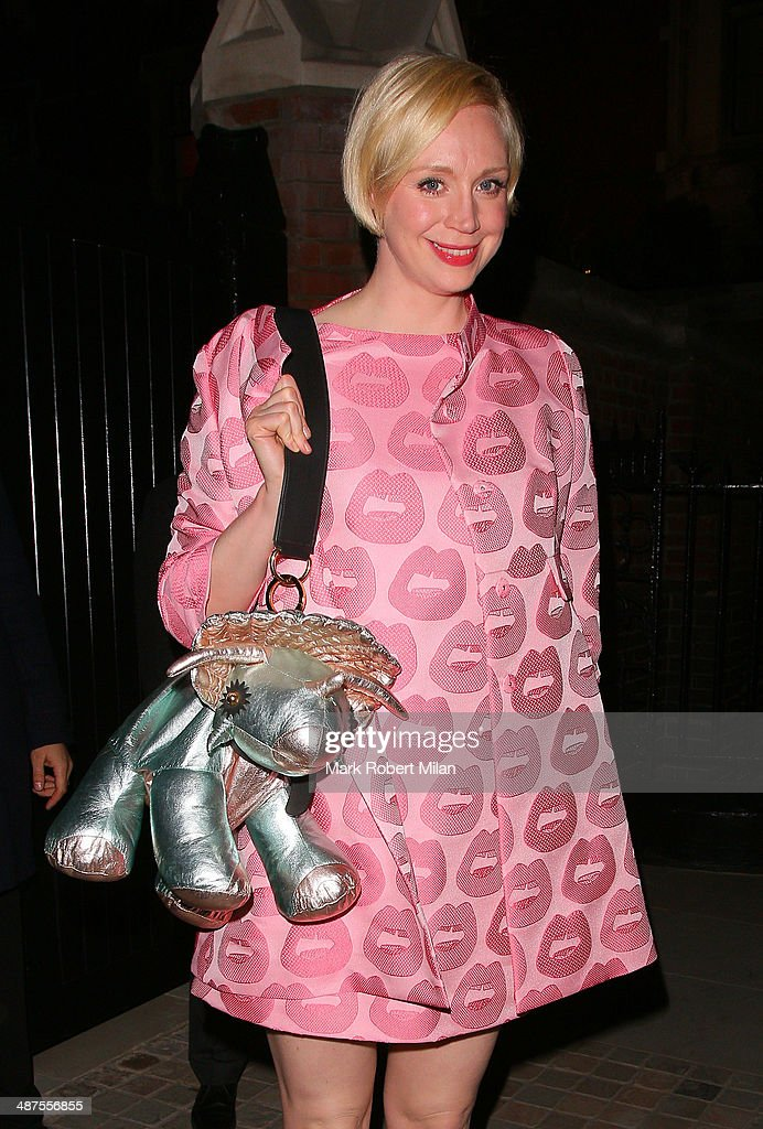 Gwendoline Christie at the Chiltern Firehouse for a Prada event on April 30, 2014 in London, England.