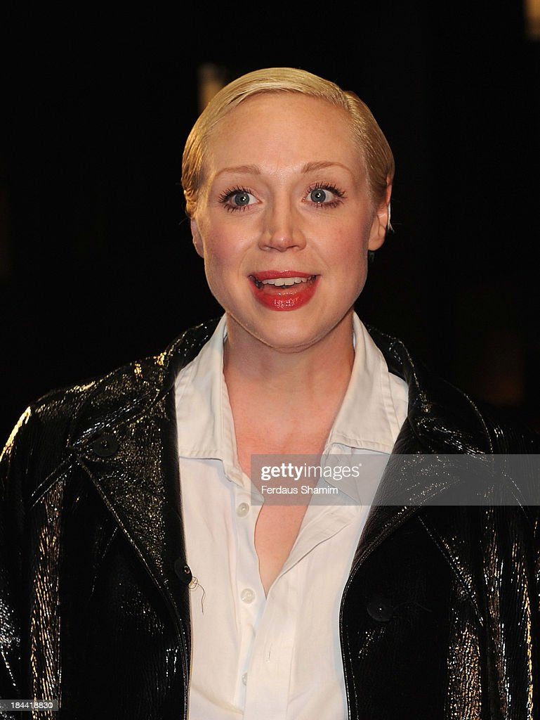 <a gi-track='captionPersonalityLinkClicked' href=/galleries/search?phrase=Gwendoline+Christie&family=editorial&specificpeople=6341361 ng-click='$event.stopPropagation()'>Gwendoline Christie</a> attends a screening of 'Zero Theorem' during the 57th BFI London Film Festival at Odeon West End on October 13, 2013 in London, England.