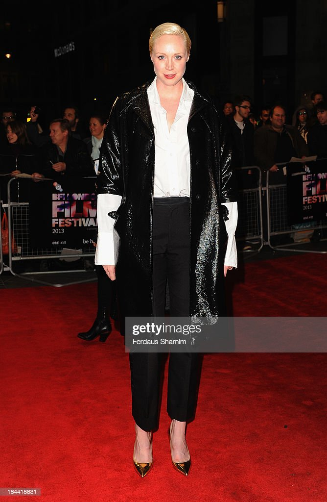 Gwendoline Christie attends a screening of 'Zero Theorem' during the 57th BFI London Film Festival at Odeon West End on October 13, 2013 in London, England.