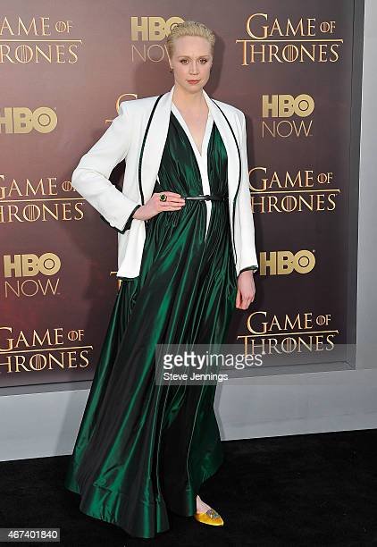 Gwendoline Christie attends HBO's 'Game Of Thrones' Season 5 San Francisco Premiere at San Francisco Opera House on March 23 2015 in San Francisco...