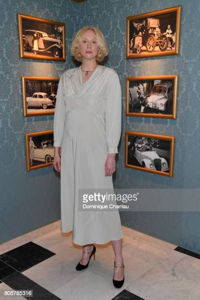 Gwendoline Christie attends Miu Miu Cruise Collection show as part of Haute Couture Paris Fashion Week on July 2 2017 in Paris France