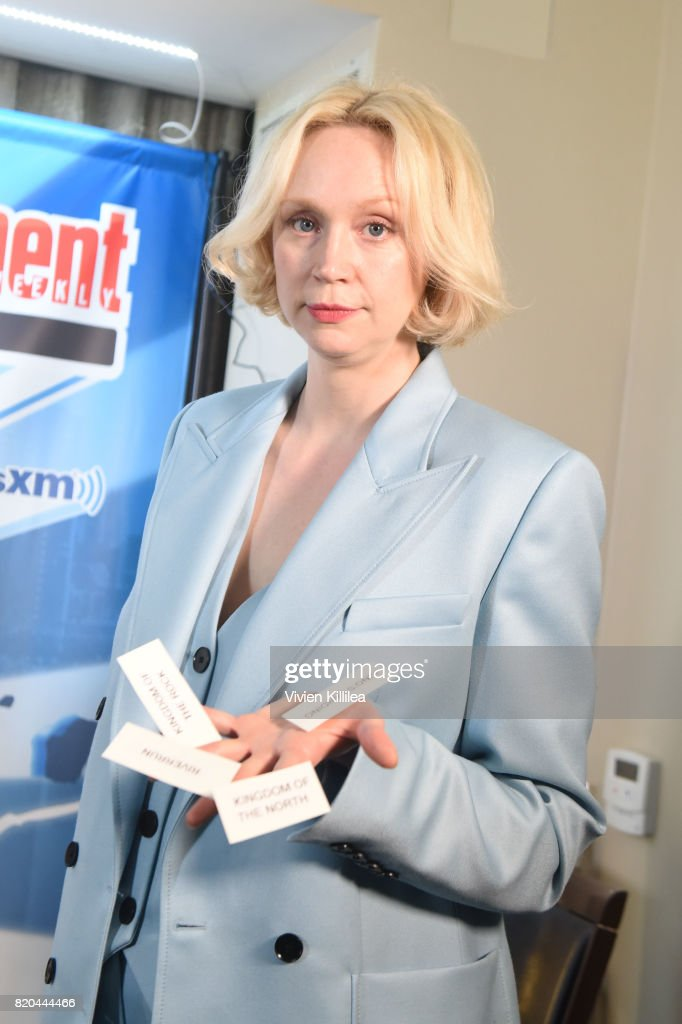 Gwendoline Christie attends SiriusXM's Entertainment Weekly Radio Channel Broadcasts From Comic Con 2017 at Hard Rock Hotel San Diego on July 21, 2017 in San Diego, California.