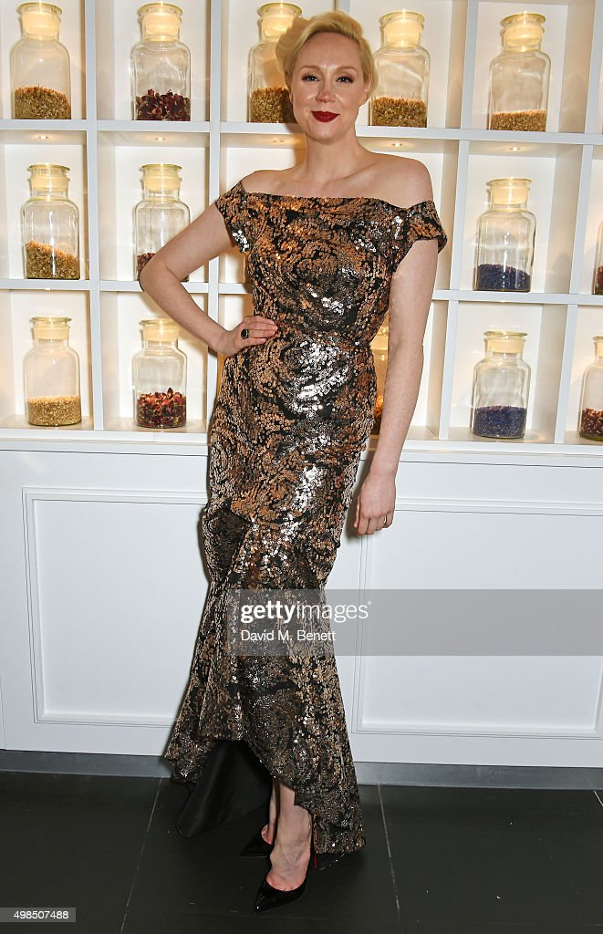 Gwendoline Christie attends the British Fashion Awards official afterparty hosted by St Martins Lane and sponsored by Ciroc Vodka at St Martins Lane on November 23, 2015 in London, England.