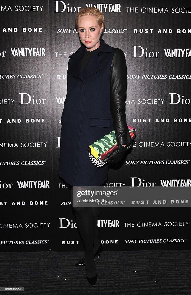 Gwendoline Christie attends The Cinema Society with Dior & Vanity Fair screening of 'Rust and Bone' at Landmark's Sunshine Cinema on November 8, 2012 in New York City.