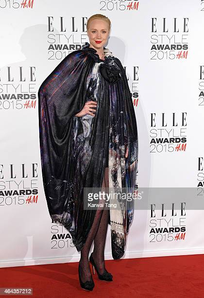 Gwendoline Christie attends the Elle Style Awards 2015 at Sky Garden @ The Walkie Talkie Tower on February 24 2015 in London UK