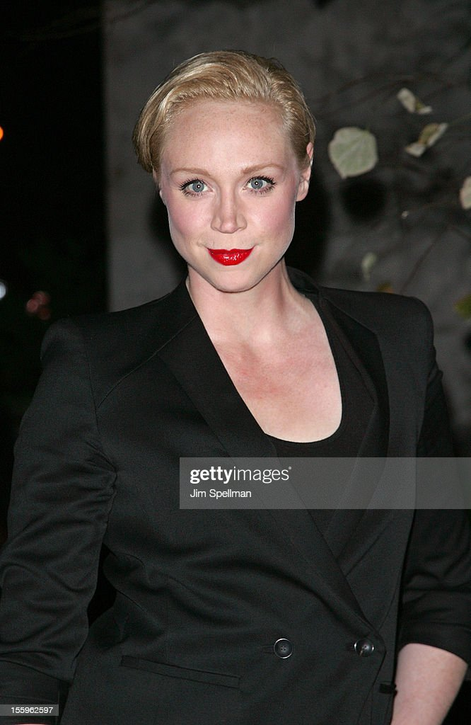 Gwendoline Christie attends the Gato Negro Films & The Cinema Society screening of 'Hotel Noir' at Crosby Street Hotel on November 9, 2012 in New York City.