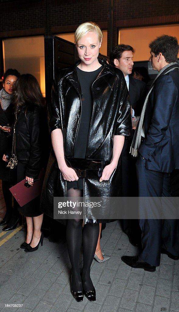 <a gi-track='captionPersonalityLinkClicked' href=/galleries/search?phrase=Gwendoline+Christie&family=editorial&specificpeople=6341361 ng-click='$event.stopPropagation()'>Gwendoline Christie</a> attends the Roger Vivier Virgule party at Le Baron on October 15, 2013 in London, England.