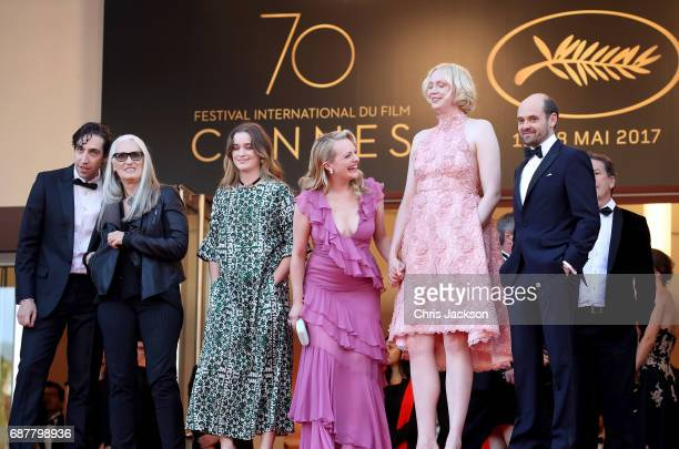 Gwendoline Christie Jane Campion Elisabeth Moss Ariel Kleiman David Dencik and Alice Englert of 'Top of the Lake China Girl' attend the 'The...