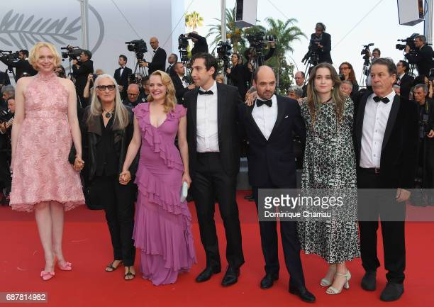 Gwendoline Christie Jane Campion Elisabeth Moss Ariel Kleiman David Dencik Alice Englert and guest of 'Top Of The Lake China Girl' attend the 'The...