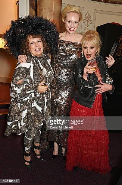 Gwendoline Christie winner of the British Style award poses with Jennifer Saunders and Joanna Lumley as Edina Monsoon and Patsy Stone from Absolutely...