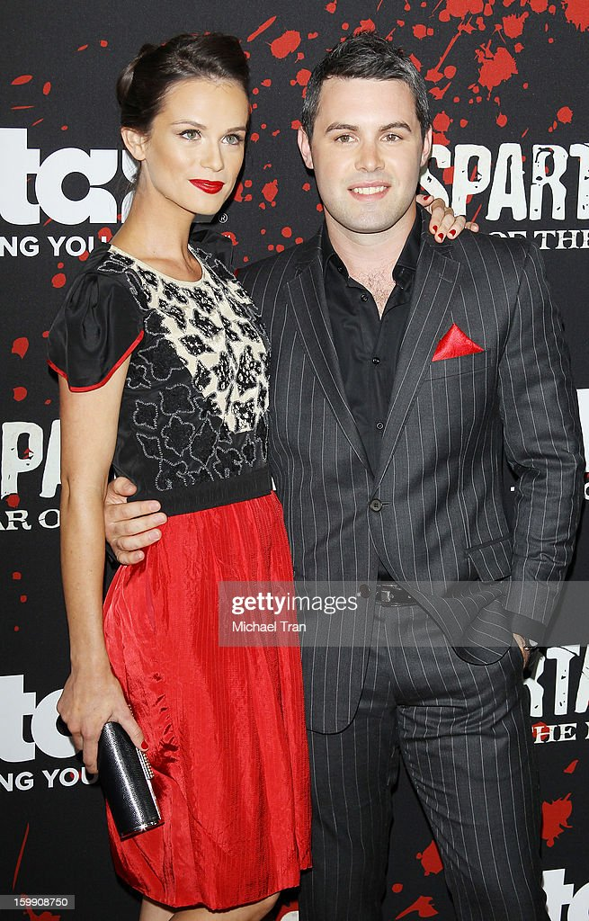 Gwendoline Taylor (L) and guest arrive at the Los Angeles premiere of 'Spartacus: War Of The Damned' held at Regal Cinemas L.A. LIVE Stadium 14 on January 22, 2013 in Los Angeles, California.