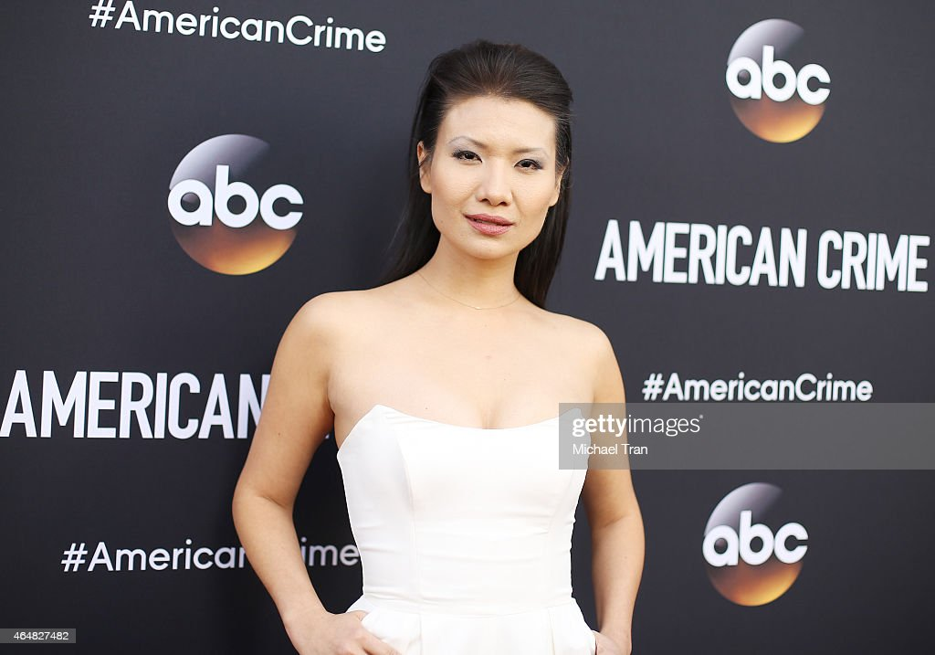 Gwendoline Yeo arrives at the Los Angeles premiere of 'American Crime' held at Ace Hotel on February 28, 2015 in Los Angeles, California.