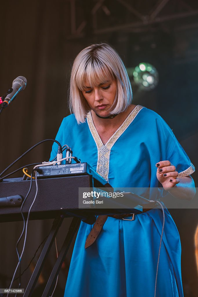 Gwenno performs during the Caught By The River Thames festival at Fulham Palace on August 7 2016 in London England