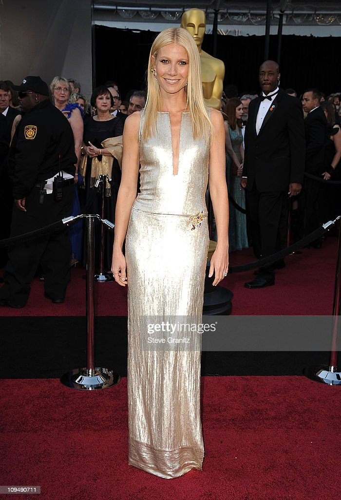 Gwentyth Paltrow arrive at the 83rd Annual Academy Awards at the Kodak Theatre on February 27 2011 in Hollywood California