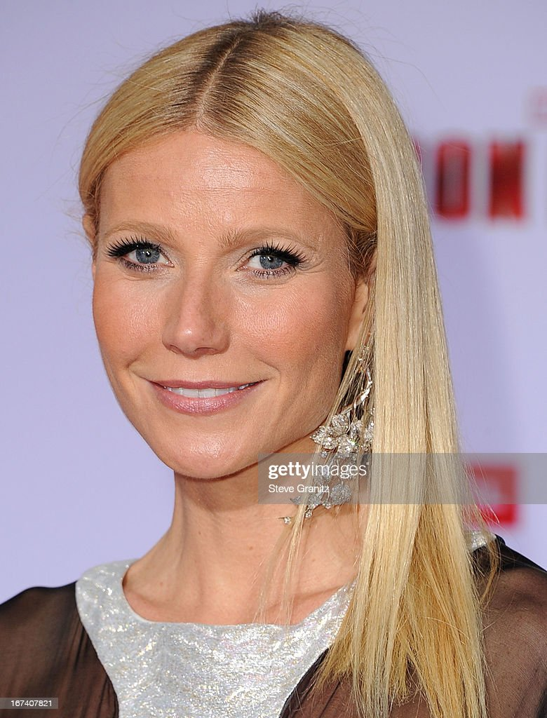 Gwenyth Paltrow arrives at the 'Iron Man 3' - Los Angeles Premiere at the El Capitan Theatre on April 24, 2013 in Hollywood, California.