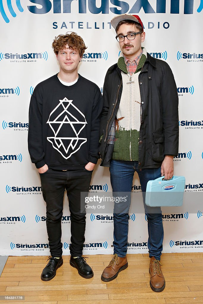 Gwil Sainsbury and Thom Green of Alt-J visit the SiriusXM Studios on March 22, 2013 in New York City.