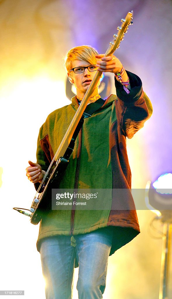 Gwil Sainsbury of Alt-J performs on day 2 of the 2013 Glastonbury Festival at Worthy Farm on June 28, 2013 in Glastonbury, England.