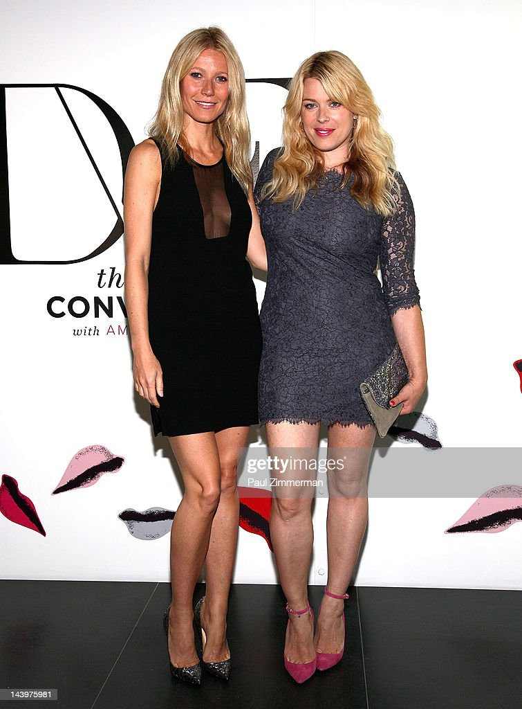 Gwyneth Paltrow and Amanda de Cadenet attend 'The Conversation Launch Celebration at DVF Studio on May 6 2012 in New York City