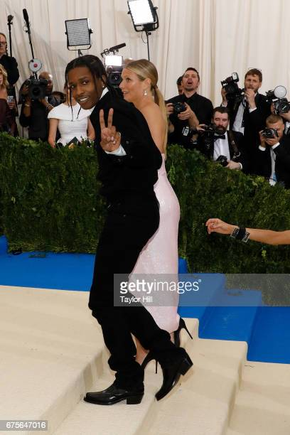 Gwyneth Paltrow and ASAP Rocky attend 'Rei Kawakubo/Commes Des Garcons Art of the InBetween' at Metropolitan Museum of Art on May 1 2017 in New York...