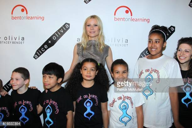 Gwyneth Paltrow and Bent On Learning Kids attend 2nd Annual BENT ON LEARNING Benefit Spnsored by alice oliva at Puck Building on April 28 2010 in New...