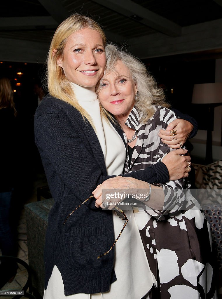 Gwyneth Paltrow and Blythe Danner attend the after party for 'I'll See You In My Dreams' screening at The London West Hollywood on May 7, 2015 in West Hollywood, California.