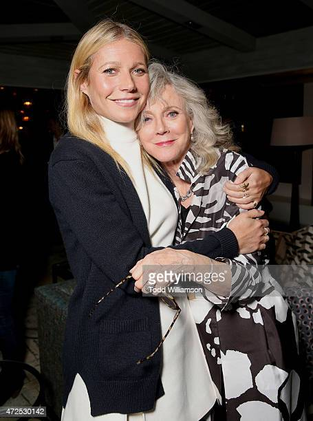 Gwyneth Paltrow and Blythe Danner attend the after party for 'I'll See You In My Dreams' screening at The London West Hollywood on May 7 2015 in West...