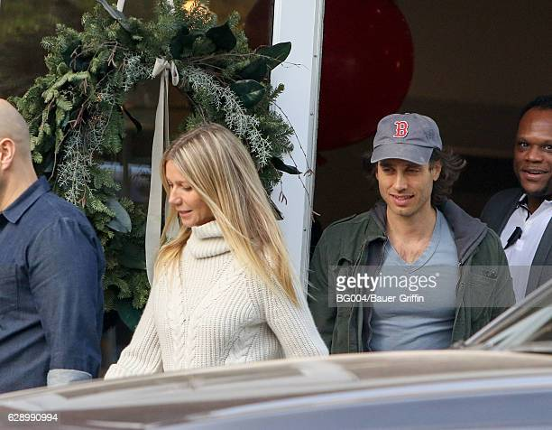 Gwyneth Paltrow and Brad Falchuk are seen on December 10 2016 in Los Angeles California