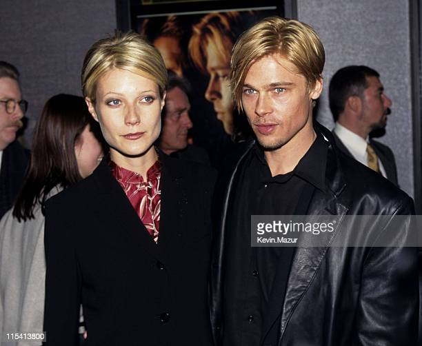 Gwyneth Paltrow and Brad Pitt during 'The Devil's Own' Premiere at Cinema One in New York City New York United States
