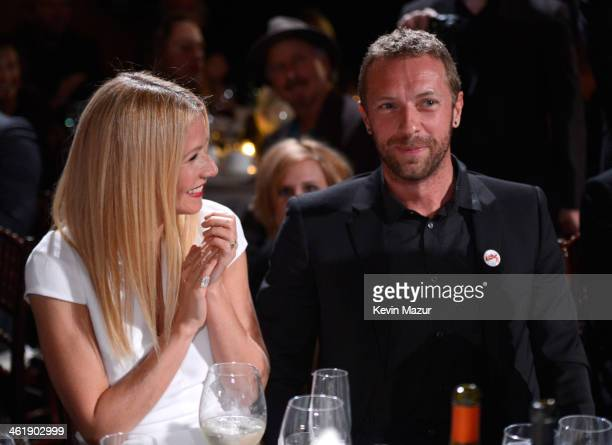 Gwyneth Paltrow and Chris Martin attend the 3rd annual Sean Penn Friends HELP HAITI HOME Gala benefiting J/P HRO presented by Giorgio Armani at...