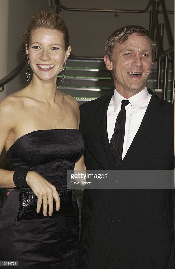 <a gi-track='captionPersonalityLinkClicked' href=/galleries/search?phrase=Gwyneth+Paltrow&family=editorial&specificpeople=171431 ng-click='$event.stopPropagation()'>Gwyneth Paltrow</a> and Daniel Craig attend the UK Premiere of 'Silvia' at the Odeon, Leicester Square on November 7, 2003 in London.
