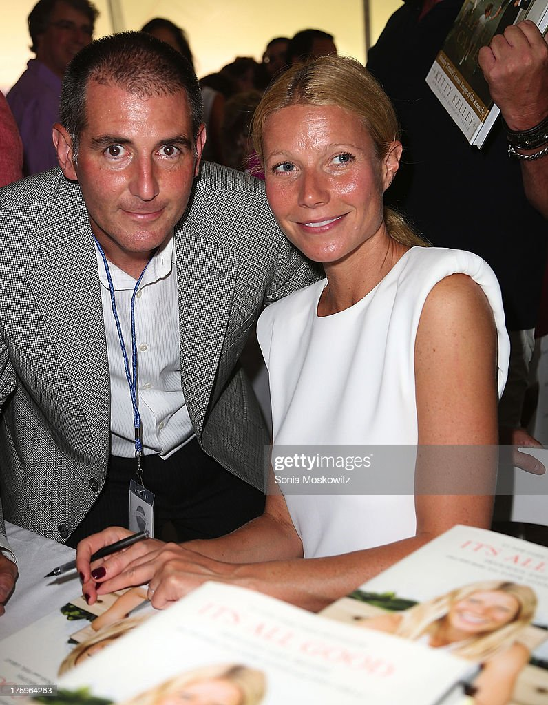 <a gi-track='captionPersonalityLinkClicked' href=/galleries/search?phrase=Gwyneth+Paltrow&family=editorial&specificpeople=171431 ng-click='$event.stopPropagation()'>Gwyneth Paltrow</a> and Dennis Fabiszak attend the East Hampton Library's Authors Night 2013 at Gardiner's Farm on August 10, 2013 in East Hampton, New York.