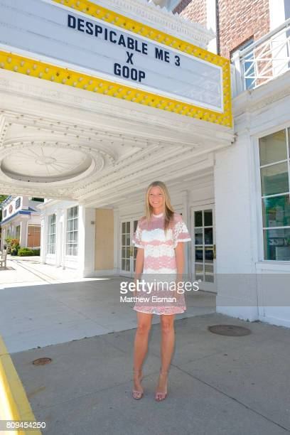 Gwyneth Paltrow and goop host a screening of Despicable Me 3 at Southampton Movie Theatre on July 5 2017 in Southampton New York