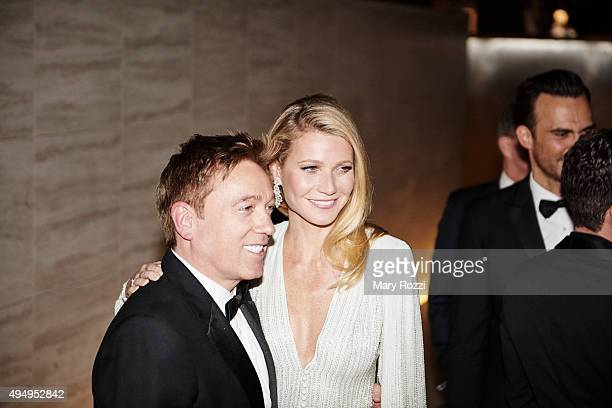 Gwyneth Paltrow and Kevin Huvane attend the 2015 amFar's Inspiration Gala Los Angeles at Milk Studios on October 29 2015 in Los Angeles California