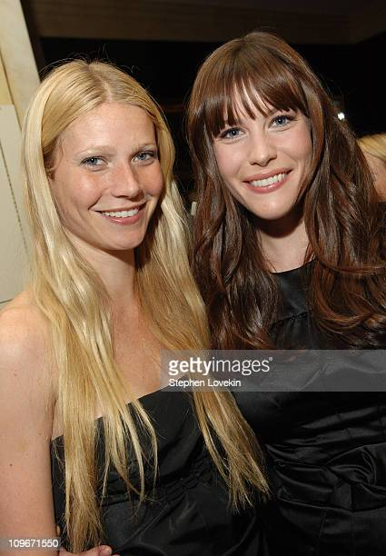 Gwyneth Paltrow and Liv Tyler during Tom Ford Menswear Launch Store Opening Private Dinner at The Carlyle Hotel in New York City NY United States