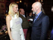 Gwyneth Paltrow and Michael Stipe attend the celebration of 'My Father's Daughter' on April 11 2011 in New York City