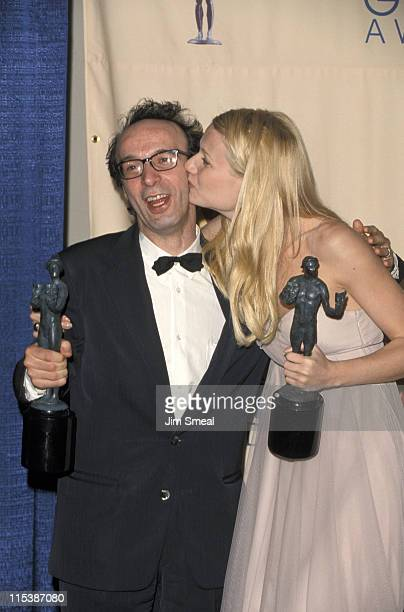 Gwyneth Paltrow and Roberto Benigni during 5th Annual Screen Actors Guild Awards Press Room at Shrine Auditorium in Los Angeles California United...