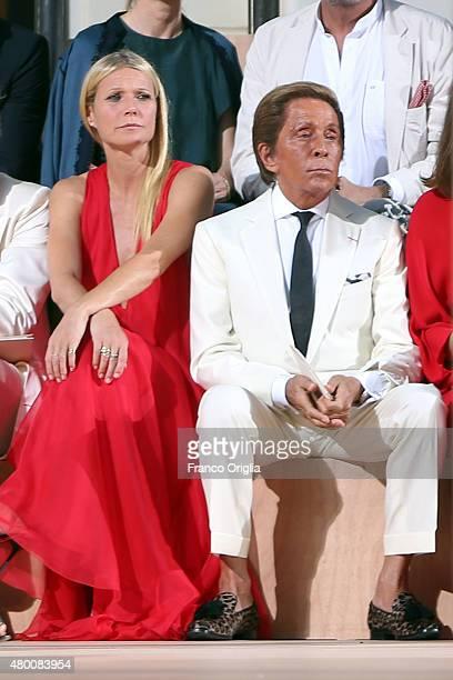 Gwyneth Paltrow and Valentino Garavani attend the Valentino 'Mirabilia Romae' show as part of AltaRoma AltaModa Fashion Week Fall/Winter 2015/16 on...